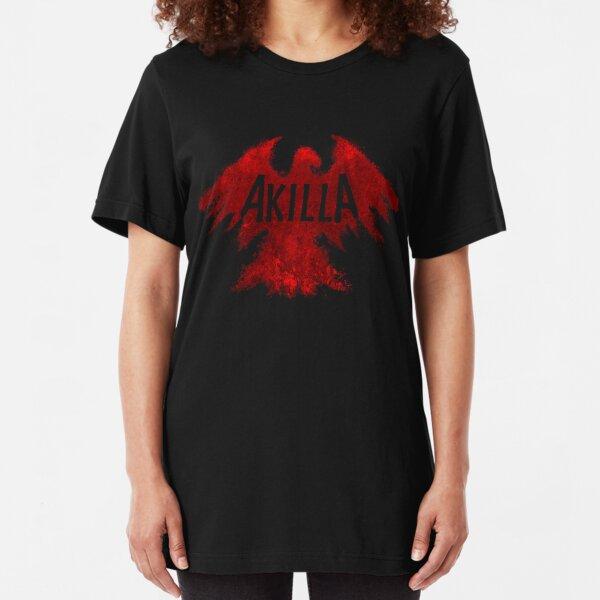 AKILLA - BLOOD RED LOGO Slim Fit T-Shirt