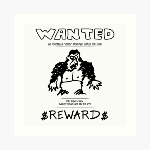 Wanted Gorilla - The Waterboy - Light Art Print