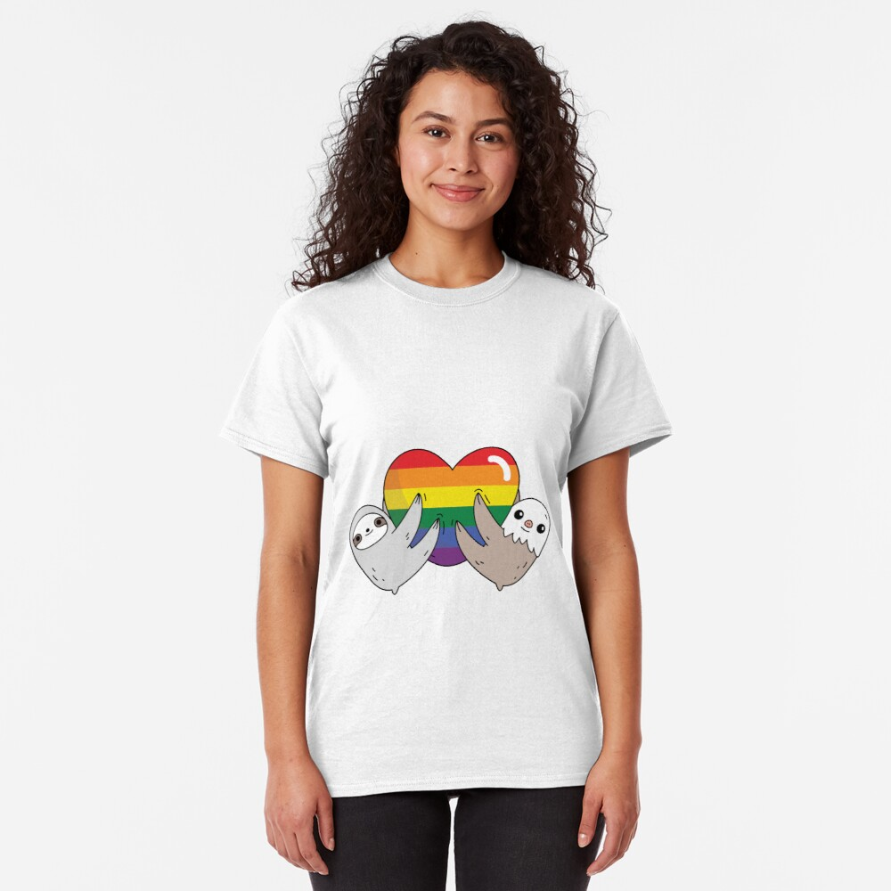 The pride love sloths  Classic T-Shirt