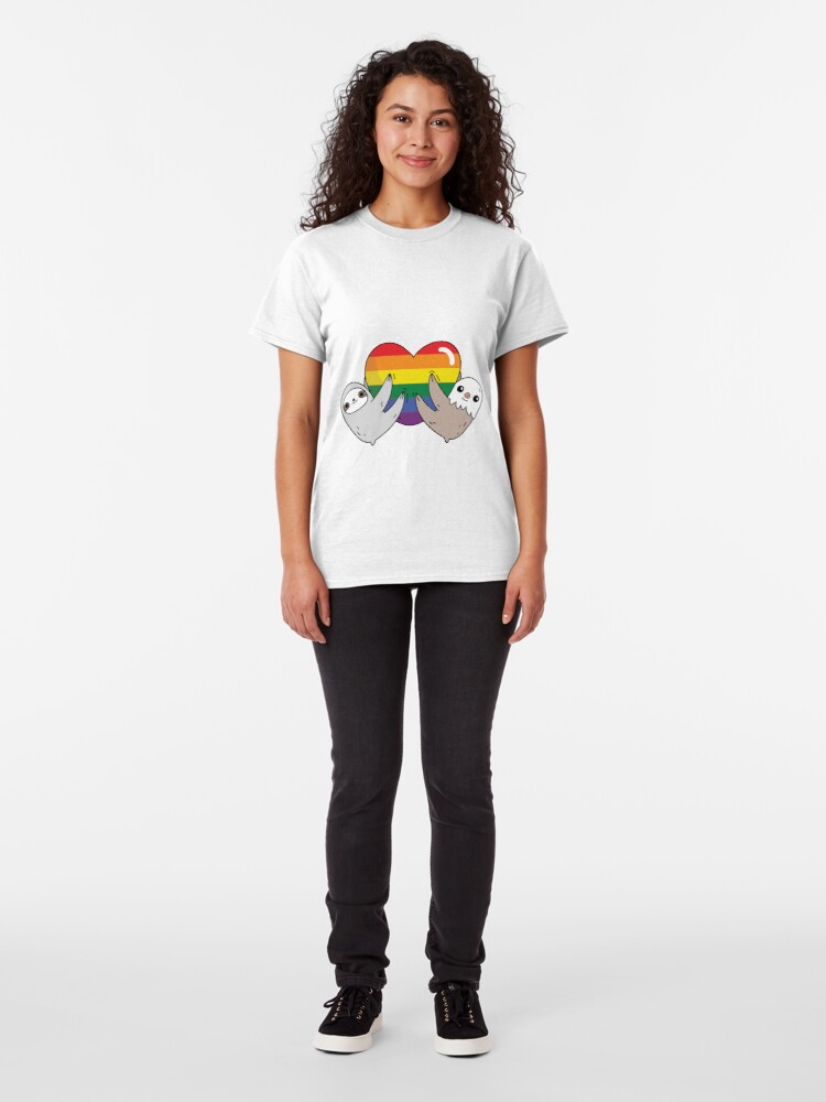 Alternate view of The pride love sloths  Classic T-Shirt