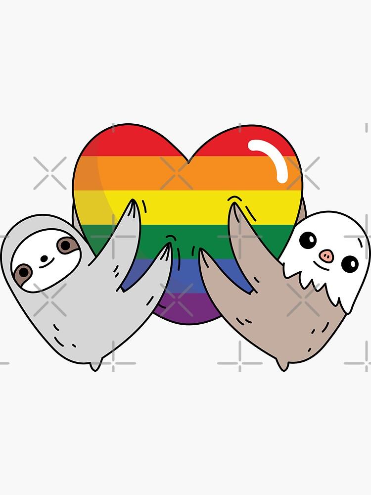 The pride love sloths  by Miri-Noristudio