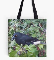 Pied Currawong. Tote Bag