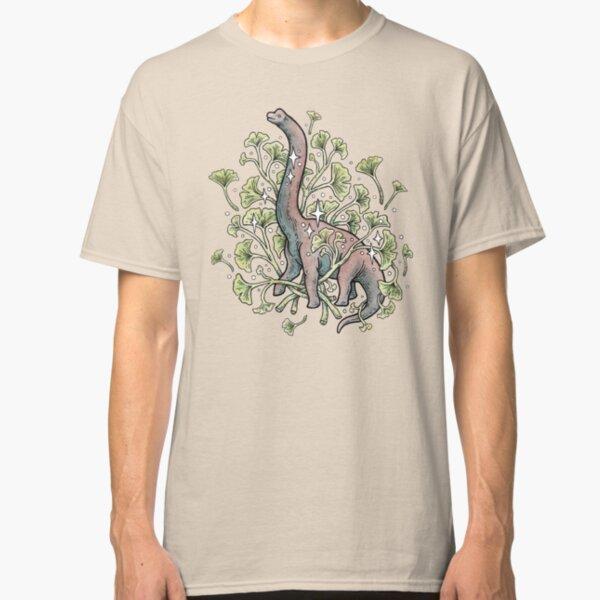 Brachio Ginkgo | Calm Color Palette | Dinosaur Botanical Art Classic T-Shirt