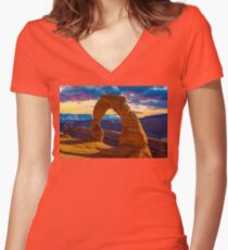 Arches National Park Women's Fitted V-Neck T-Shirt