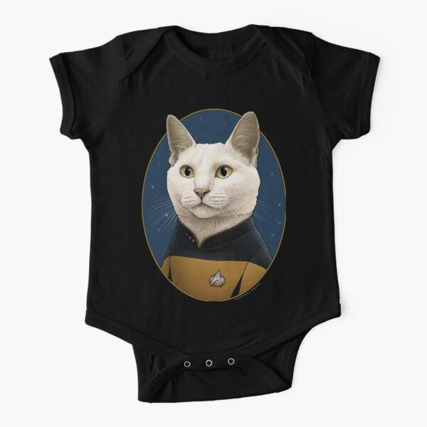 Star Trek Data Cat Formation Short Sleeve Baby One-Piece