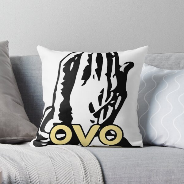 6 God OVO Drake Sticker Throw Pillow