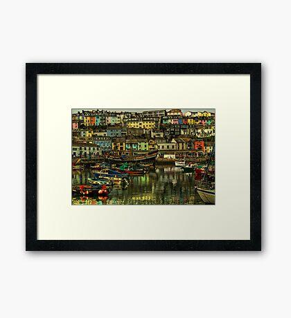 Brixham Harbour Framed Print