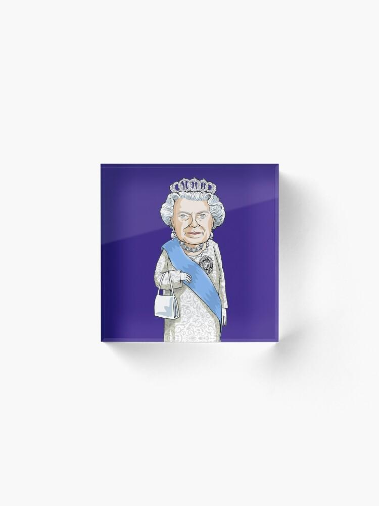 Alternate view of Queen Elizabeth II Acrylic Block
