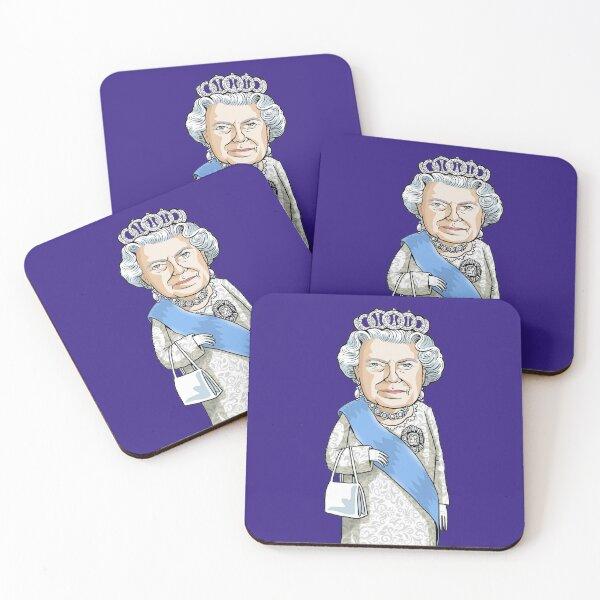 Queen Elizabeth II Coasters (Set of 4)