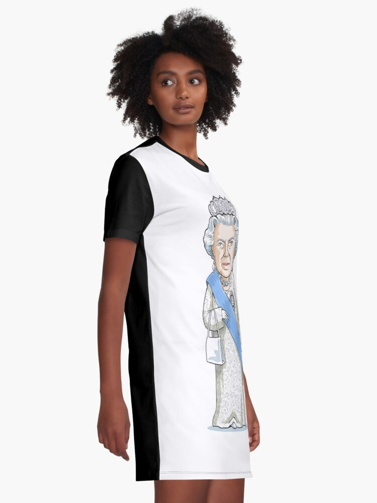 Alternate view of Queen Elizabeth II Graphic T-Shirt Dress