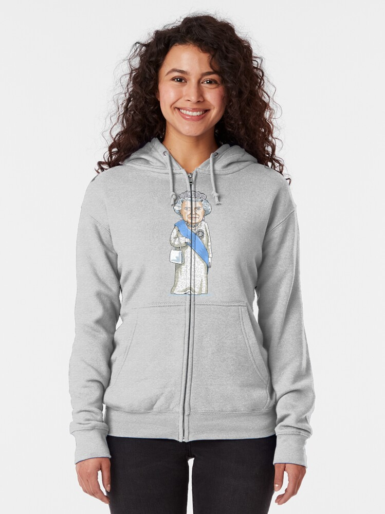 Alternate view of Queen Elizabeth II Zipped Hoodie