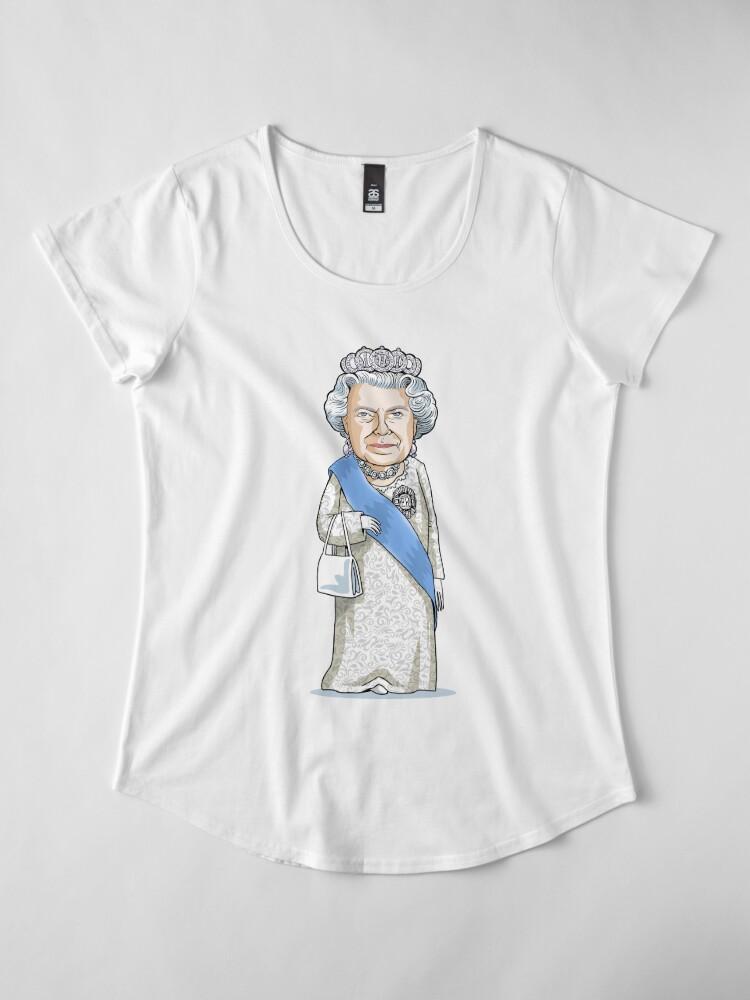Alternate view of Queen Elizabeth II Premium Scoop T-Shirt
