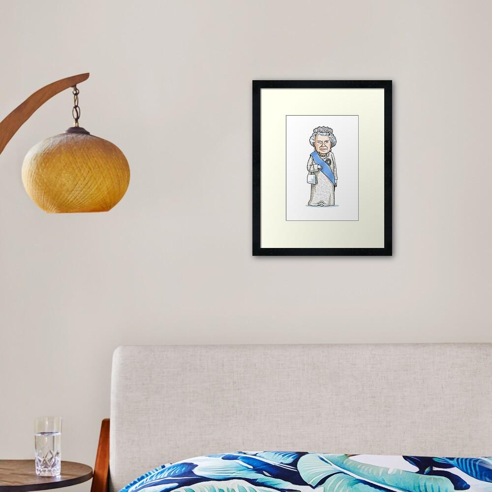 Queen Elizabeth II Framed Art Print