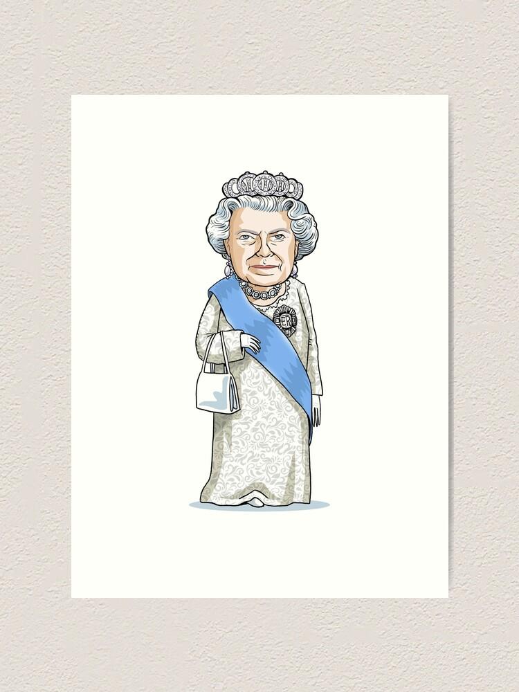 Alternate view of Queen Elizabeth II Art Print