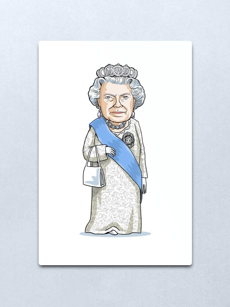 Alternate view of Queen Elizabeth II Metal Print