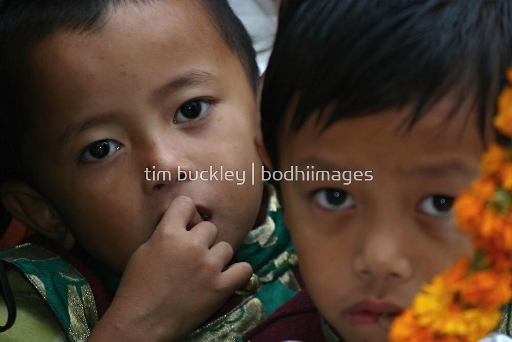 tibetan refugee boys. india by tim buckley | bodhiimages
