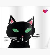 Black kat Poster