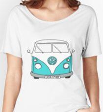 Retro Blue VW Van Women's Relaxed Fit T-Shirt