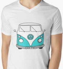 Retro Blue VW Van T-Shirt