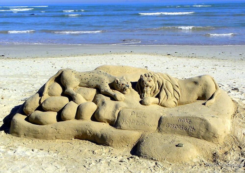 The lonely beach sculptor by Pieta Pieterse