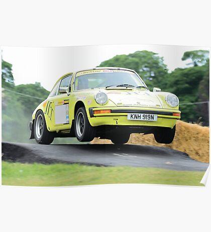 Rally Porsche 911 Poster