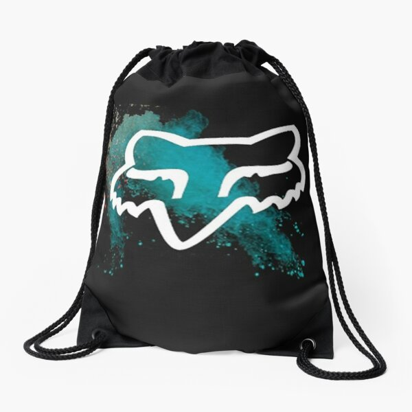 black logo racing Drawstring Bag