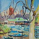 Central Park Boating Lake by Helen Imogen Field