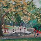 Skaters in Central Park by Helen Imogen Field