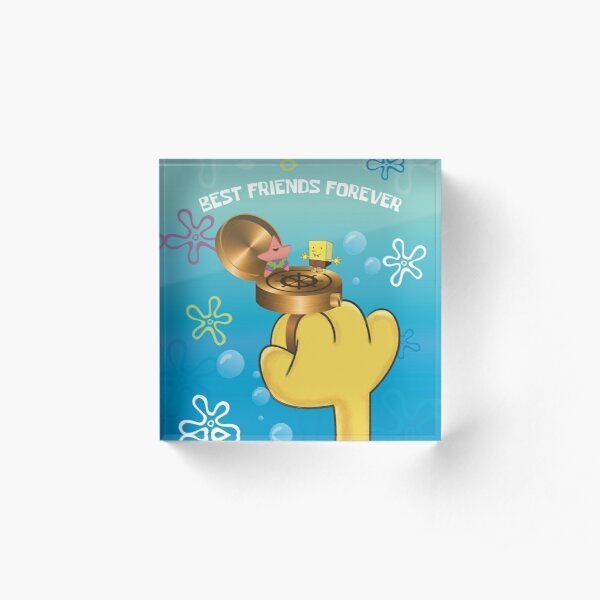 Best Friends Forever... Ring! (Spongebob Squarepants) Acrylic Block