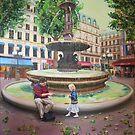 Paris - Fountain near l'Opera by Helen Imogen Field