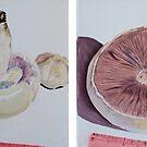 Mushrooms - growing by Helen Imogen Field
