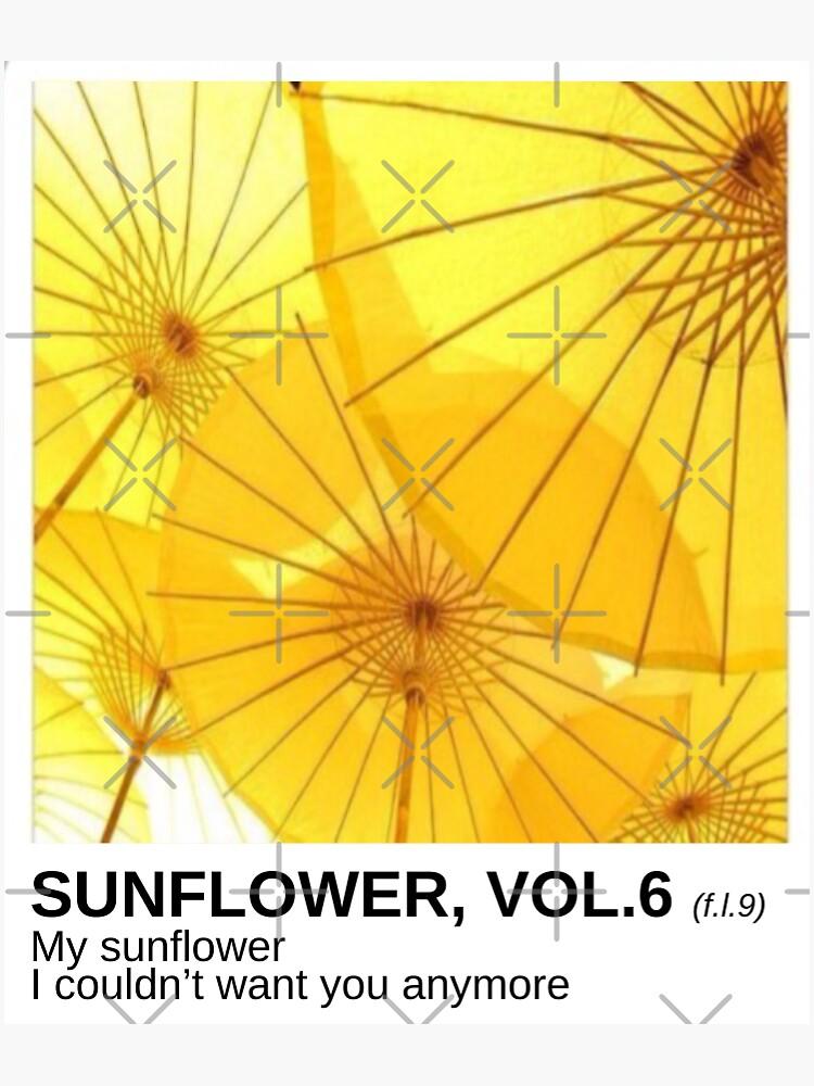 """Sunflower, Vol. 6"" Sticker by csloss   Redbubble"