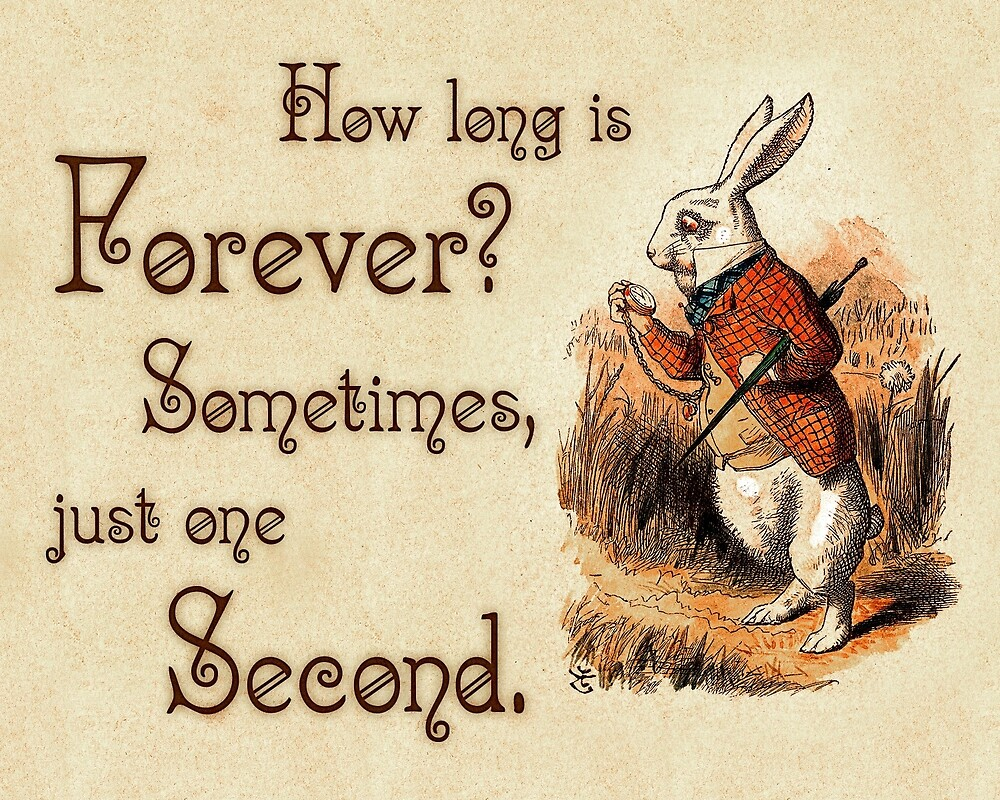Quotes From Alice In Wonderland Alice In Wonderland Quote  How Long Is Forever  White Rabbit