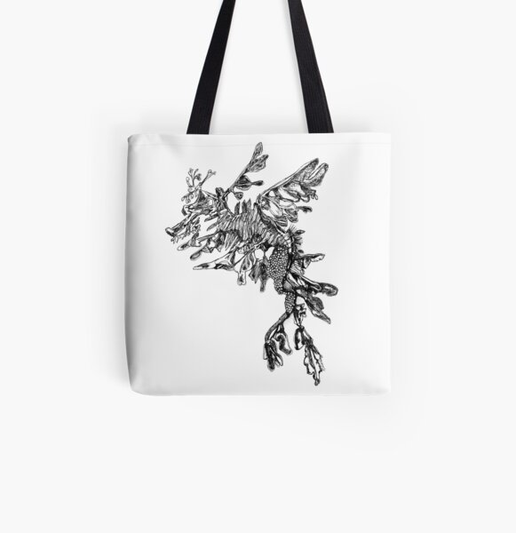Steve the Leafy Sea Dragon All Over Print Tote Bag