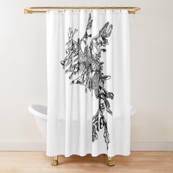 Steve the Leafy Sea Dragon Shower Curtain