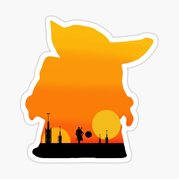 silhoute sunset Sticker