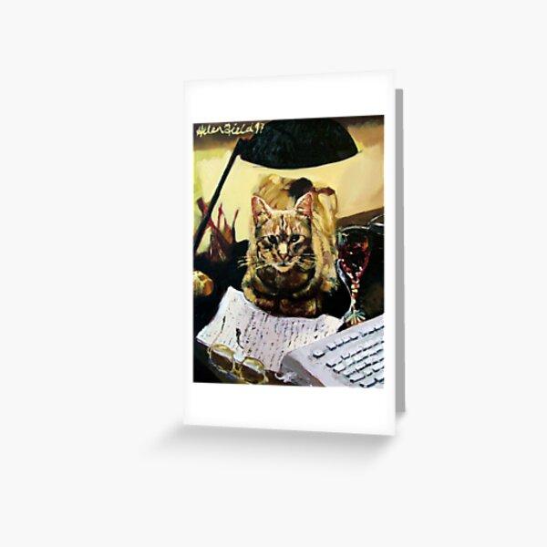 Writer's Cat  Greeting Card