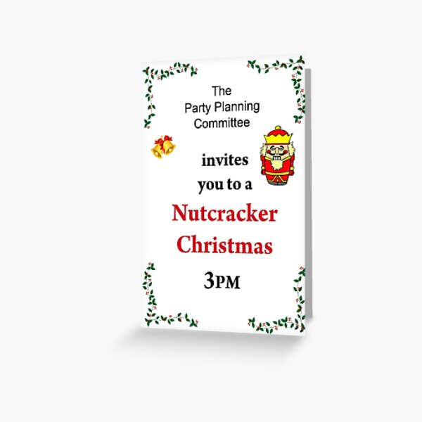 Nutcracker Christmas Greeting Card