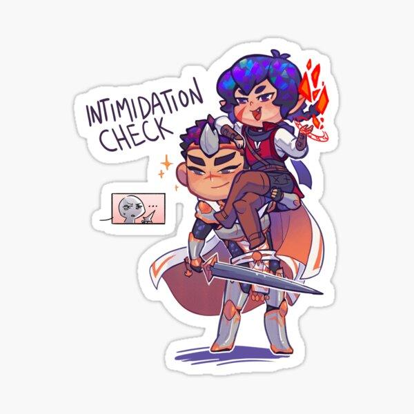 monster n mana: intimidation check Sticker
