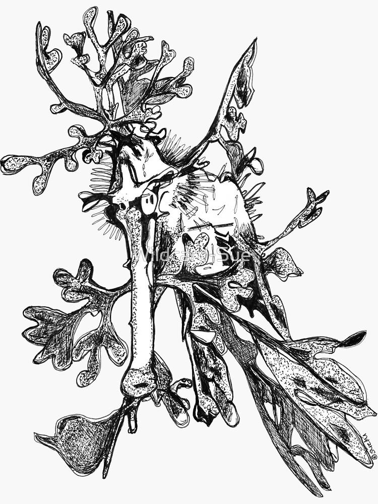 Carl the Leafy Sea Dragon by Wildcard-Sue