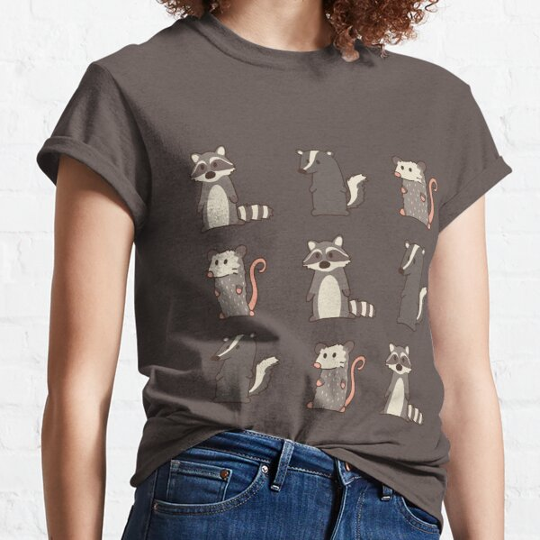 raccoon, opossum & skunk woodland friends #2 Classic T-Shirt