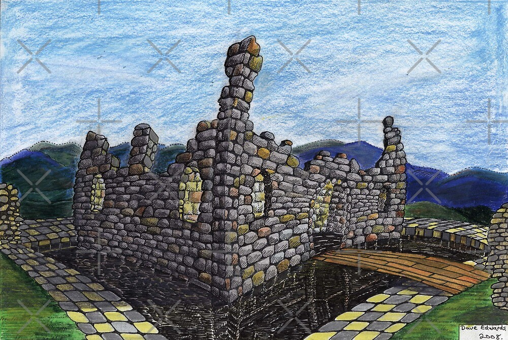 206 - FANTASY CASTLE - COLOURED PENCILS - 2008 by BLYTHART