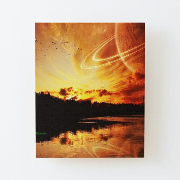 Planetary Wood Mounted Print