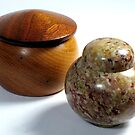 Stone and Wood Containers by glennc70000