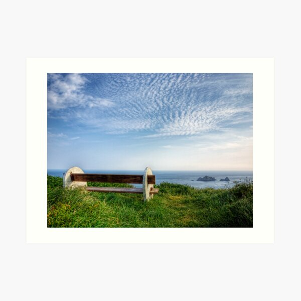 A Seat with a View - Alderney Art Print