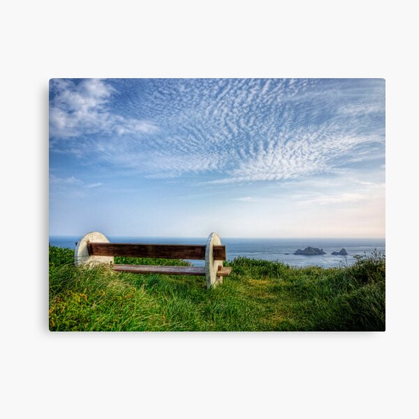 A Seat with a View - Alderney Canvas Print