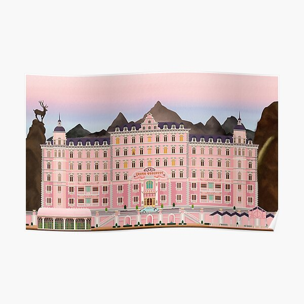 Grand Budapest Hotel Poster Wes Movie rushmore Poster