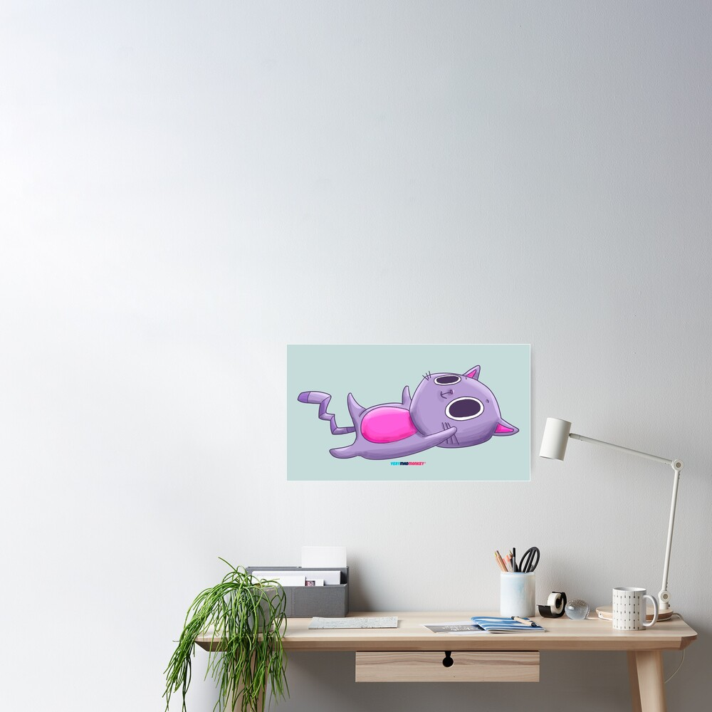 Cute Cat by Fran Ferriz Póster