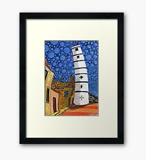 201 - THE LIGHTHOUSE, BLYTH - COLOURED PENCILS - 2008 Framed Print