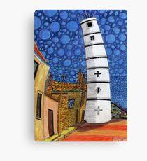 201 - THE LIGHTHOUSE, BLYTH - COLOURED PENCILS - 2008 Canvas Print
